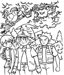 Small Picture Exquisite Pokemon Coloring Pages Ash 17 mosatt