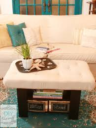 Upholstered Coffee Table Diy Tufted Ottoman Coffee Table Remarkable Tufted Fabric Ottoman