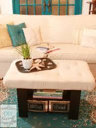 Diy Coffee Table Ottoman Tufted Ottoman Coffee Table Remarkable Tufted Fabric Ottoman