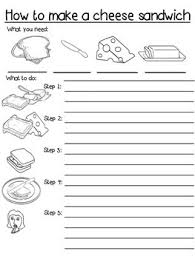 Writing Instructions Template Procedure Writing Template Differentiated How To Make A Cheese