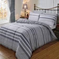 flannel stripe grey duvet cover reversible bedding brushed cotton super king size 264703 p5549 15278 image jpg