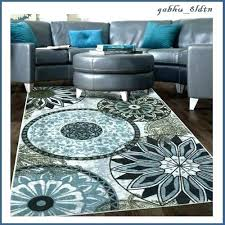 blue and brown rug area rugs 8 x contemporary medallion carpet aqua