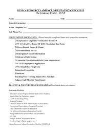 Human Resources Adjunct Orientation Checklist The