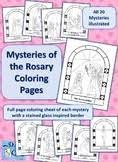 Catholic arts, crafts, games, activities, and ideas to help. The Rosary Coloring Worksheets Teaching Resources Tpt
