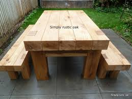 rustic garden furniture. unique rustic rustic oak beam garden table 2 and furniture