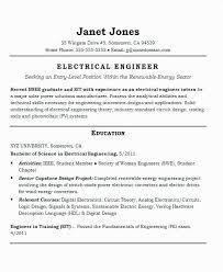 Entry Level Electrical Engineer Resume Fresh Solar Engineer Resume