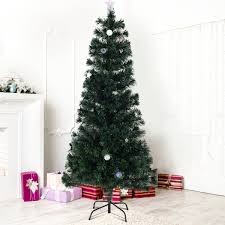 Large Christmas Tree Stand 6 Ft Fiber Optic Artificial Christmas Tree W Multicolor Lights