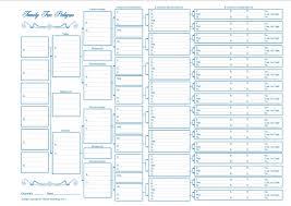 blank pedigree chart 4 generation maxbal