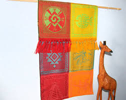 Mexican Wall Hanging - Aztec Mexican Images, cloth hand-woven in Mexico -  Luxurious