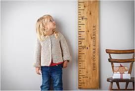 Wooden Ruler Height Chart