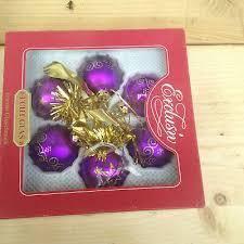 Christbaumschmuck Weihnachtsbaumschmuck Lila Gold Gebraucht
