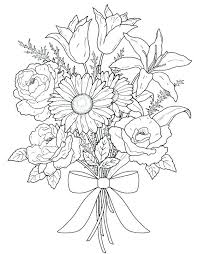 Flower Coloring Pages Printable Free Flower Coloring Pages Printable