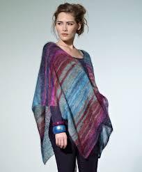 Free Knitted Poncho Patterns Mesmerizing Tranquil Dusk Poncho AllFreeKnitting