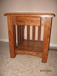 mission end table with drawer woodworking projects plans