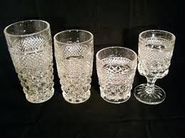 anchor hocking depression glass patterns vintage glassware pattern crystal set of anchor hocking pressed glass patterns