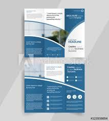 Buy Brochure Templates Business Tri Fold Brochure Layout Design Vector A4 Brochure