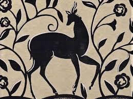 art deco style deer scrolls metallic