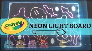 Kids Light Board Abc123 Crayola Neon Fx Light Board Review 1000 Subscribers Fun 4 Kids