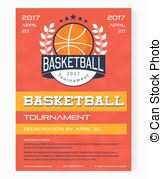 Basketball Vector Poster Game Tournament. Realistic Basketball Flyer ...