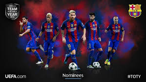 Let's find out who were considered the best players of 2018. Leo Messi Andres Iniesta Neymar Jr Luis Suarez And Gerard Pique Nominated For Uefa Com Team Of The Year 2016
