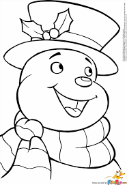 Small Picture Coloring Snowman Coloring Page Colouring Pages Free Kid Snowman
