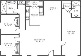 Small One Bedroom Mobile Homes Mobile Home Floor Plans Under Sq Ft Open Living Area Model 16763r