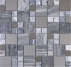 11 3 4 x 11 3 4 bardiglio grey marble and stainless steel mesh mounted mosaic tile