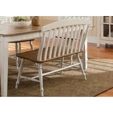 Liberty Furniture Canton Slat-Back Bench | Hayneedle