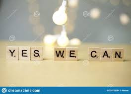 Yes We Can Motivational Words Quotes Concept Stock Photo Image Of