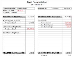 bank reconciliation form bank reconciliation template