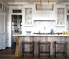 Love this kitchen island, but I would do warmer colors... like a
