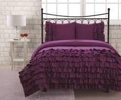 purple ruffle comforter set