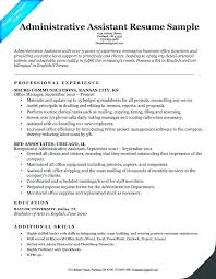 Administrative Assistant Objective Resume Free Resume Template