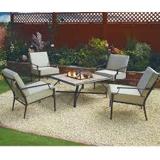 Nevada Five Piece Firepit Garden SetThe Range Outdoor Furniture