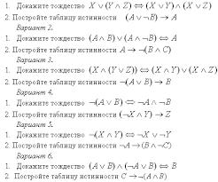 Урок в м классе по теме Основы логики и логические основы  Вариант 1