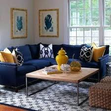 blue and gold living room royal white