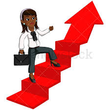 up stairs clipart. Unique Clipart Black Business Woman Climbing Up Stairs  Image Isolated On Transparent  Background PNG With Up Stairs Clipart S