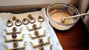 DIY Metal Polish from a combination of Salt, Vinegar, and Flour.