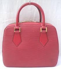 louis vuitton castilian red epi leather sablon hand bag