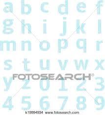Lowercase Alphabet Graph Paper Clipart K19994934 Fotosearch