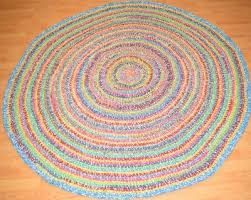 new area rug nuloom 6 round nomad maynard cotton mgnm03a braided multi crochet