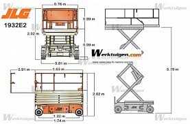 jlg e scissor lifts on wheels scissor lifts aerial work jlg 1932e2 machinery specifications