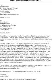 Cover Letter Business Consultant 17 Portrait Senior Consulting