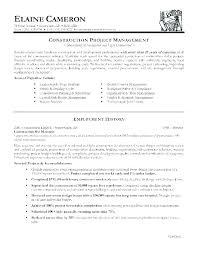 Project Manager Job Description Construction Project Description Template Architectural