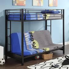 metal bunk bed futon. Black Metal Twin Over Full-size Futon Bunk Bed Frame