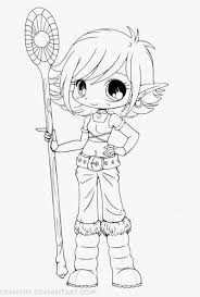 Easy Anime Girl Coloring Pages With Anime Chibi Easy To Draw Blank