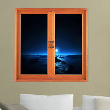 Artificial Window Dark View 3d Artificial Window View Night 3d Wall Decals Room Pag