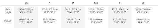 trek fuel ex 7 size chart off 65