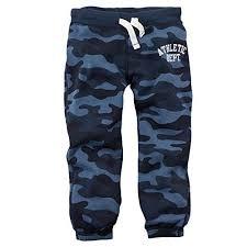 <b>Carters Baby</b> Boys Knit Fleece <b>Pants Baby</b> Blue Camo 6M ** Visit ...