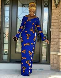 Blue African Dress Designs Blue African Print Dress African Blue Dress African Long